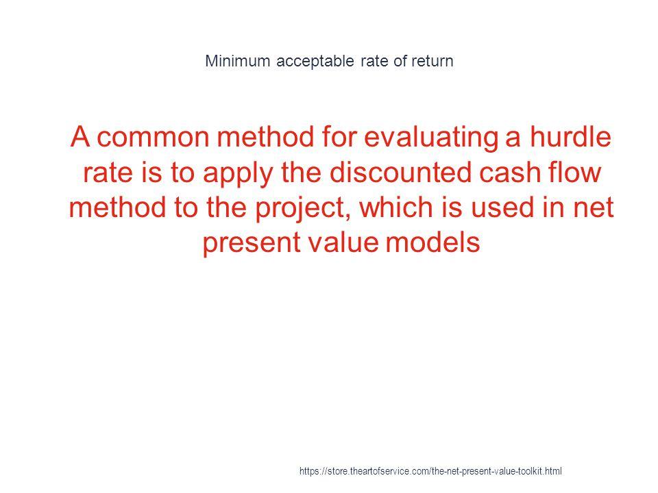 Minimum acceptable rate of return