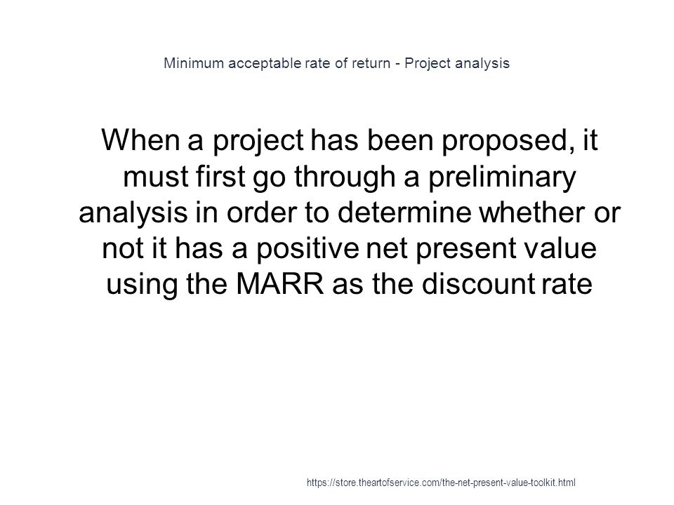 Minimum acceptable rate of return - Project analysis