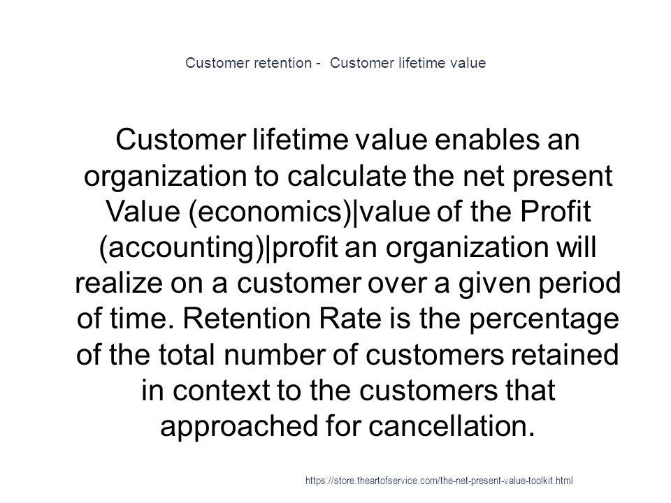 Customer retention - Customer lifetime value