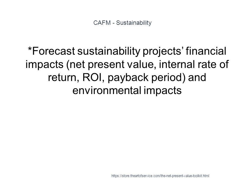 CAFM - Sustainability