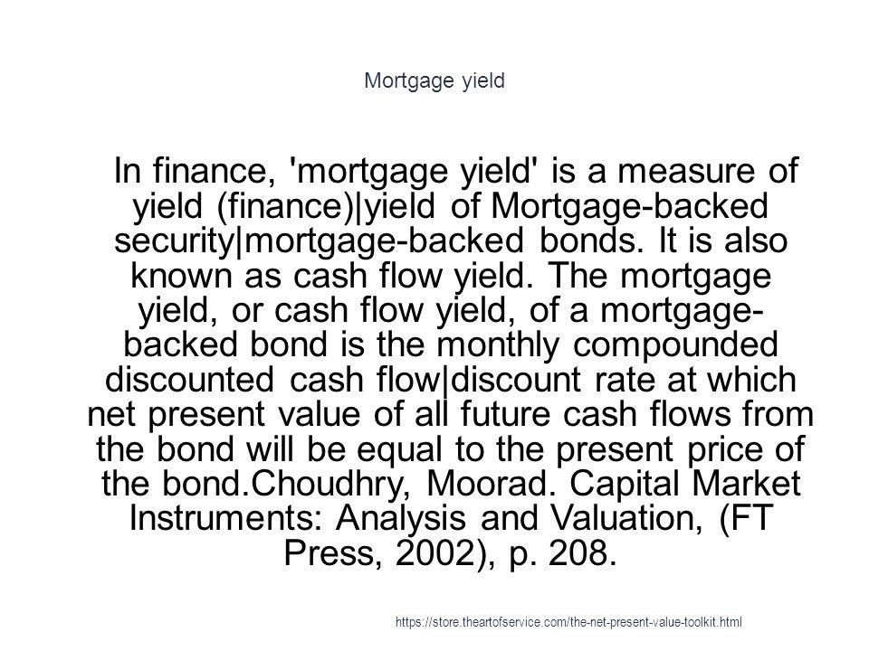 Mortgage yield