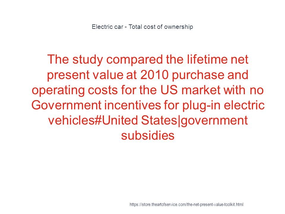 Electric car - Total cost of ownership