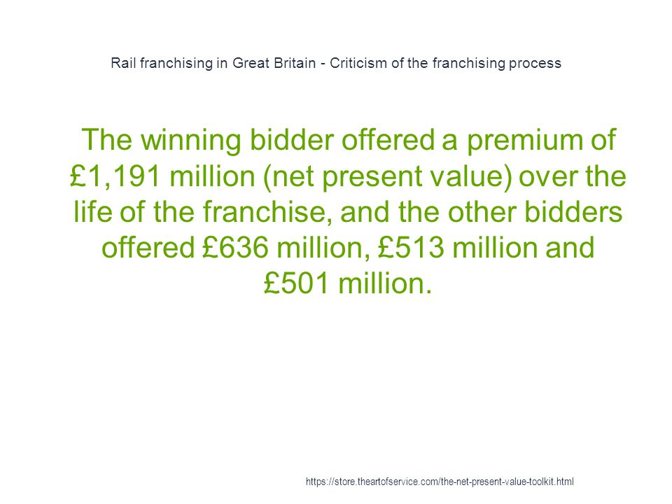 Rail franchising in Great Britain - Criticism of the franchising process