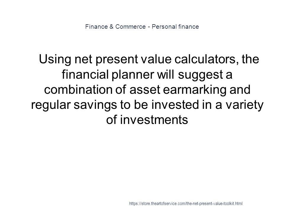 Finance & Commerce - Personal finance