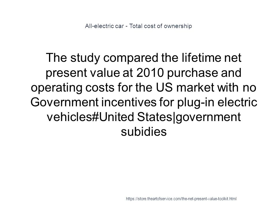 All-electric car - Total cost of ownership