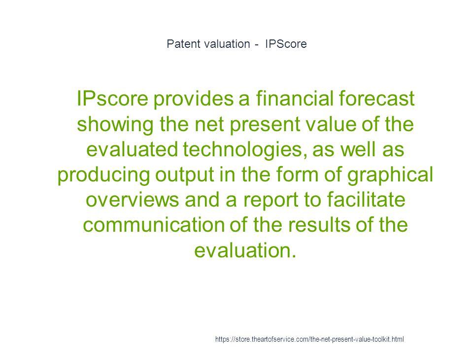 Patent valuation - IPScore