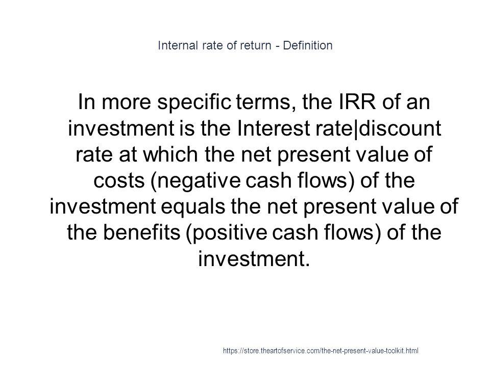 Internal rate of return - Definition