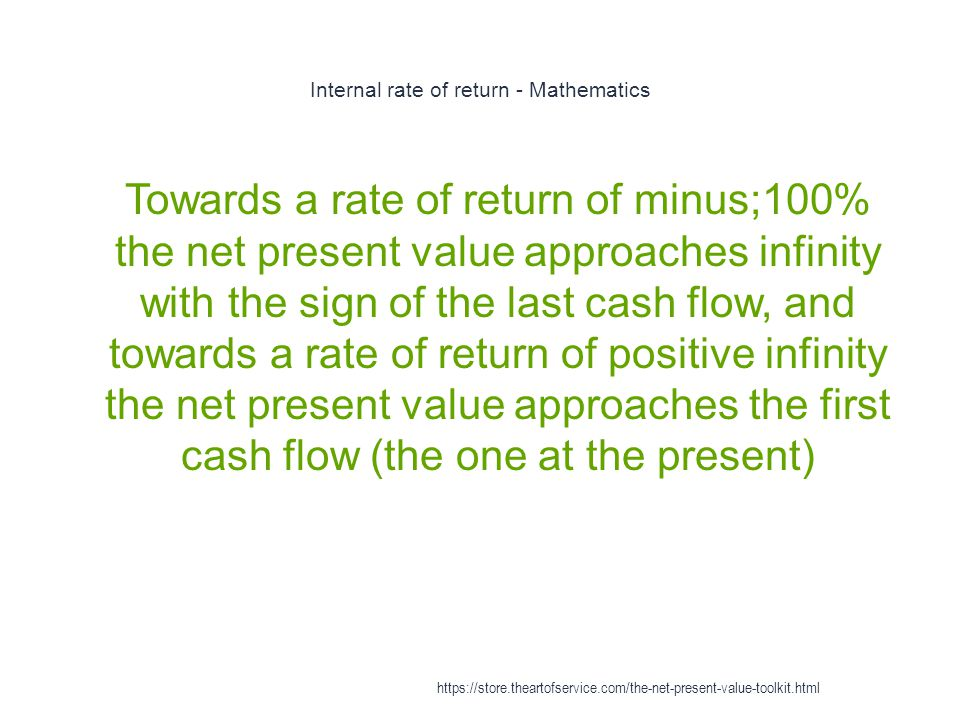 Internal rate of return - Mathematics