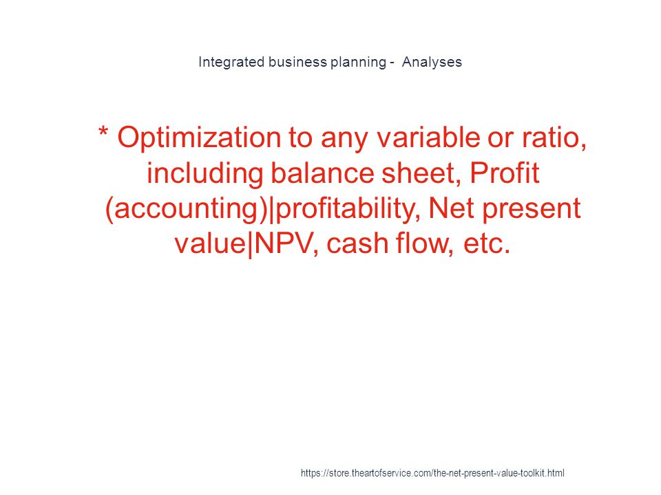 Integrated business planning - Analyses