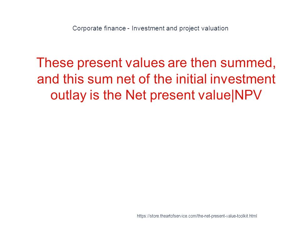 Corporate finance - Investment and project valuation
