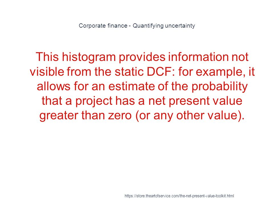 Corporate finance - Quantifying uncertainty