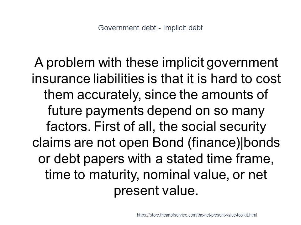 Government debt - Implicit debt