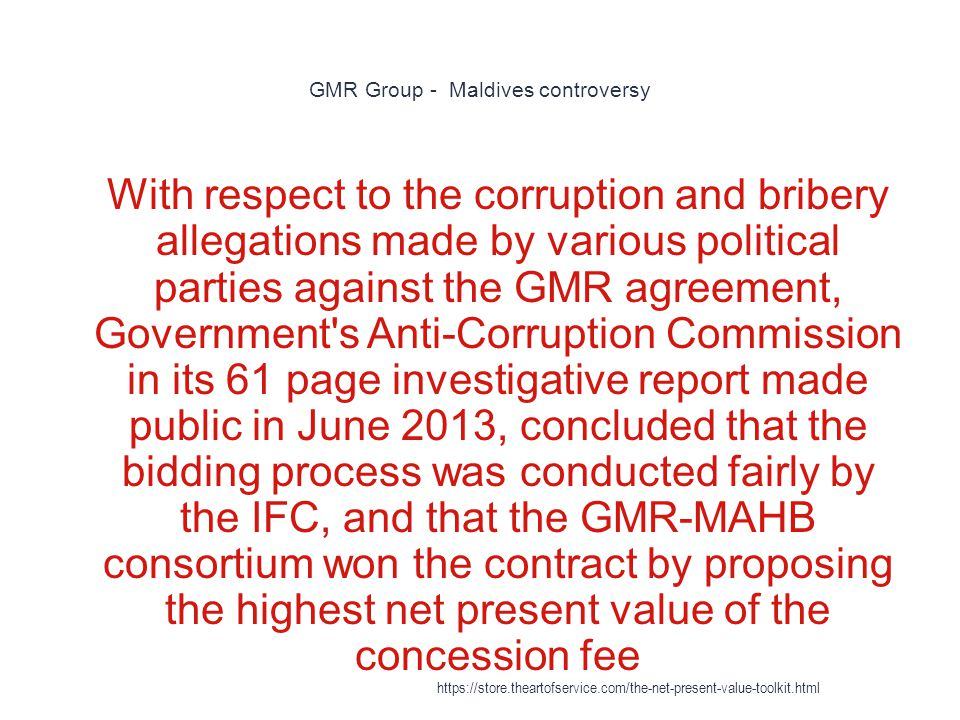 GMR Group - Maldives controversy