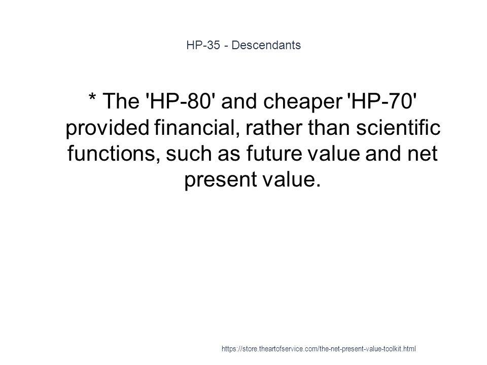 HP-35 - Descendants