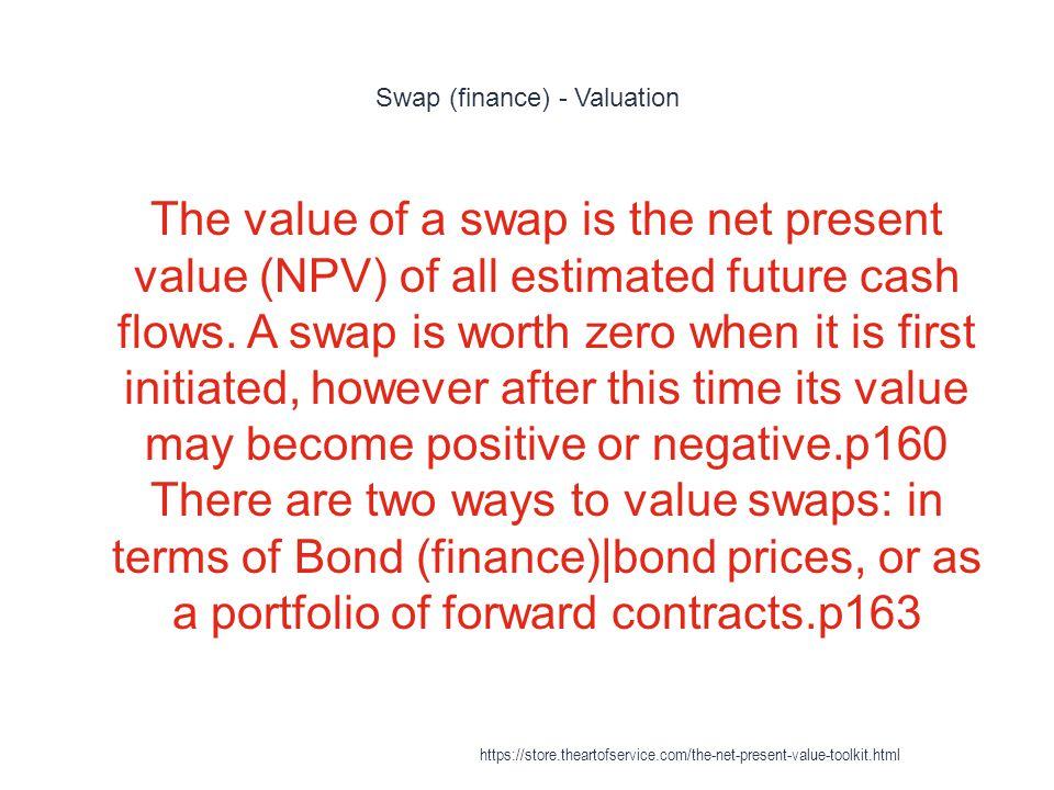 Swap (finance) - Valuation