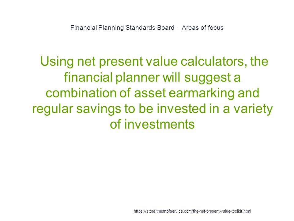Financial Planning Standards Board - Areas of focus