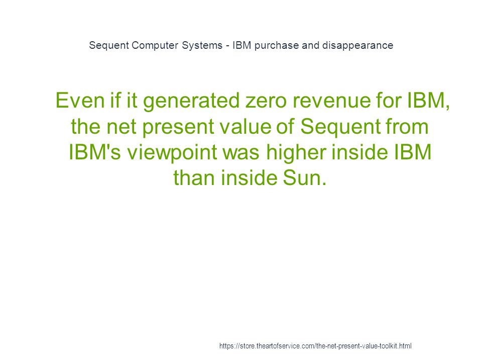 Sequent Computer Systems - IBM purchase and disappearance