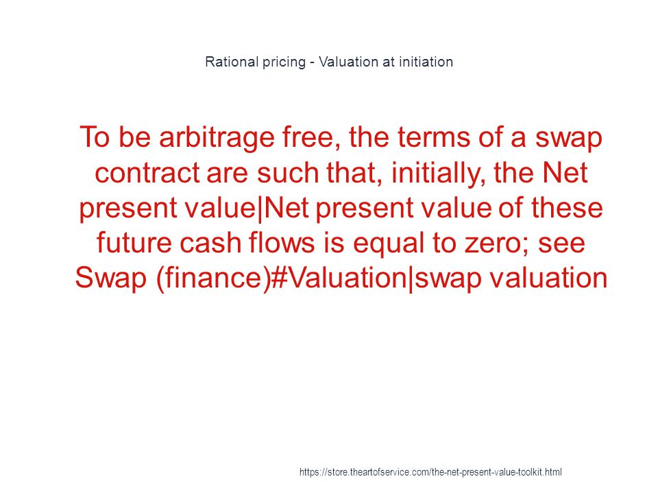 Rational pricing - Valuation at initiation