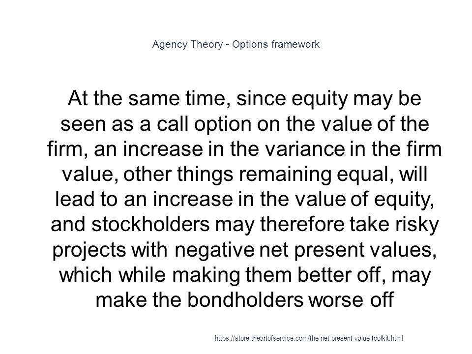 Agency Theory - Options framework