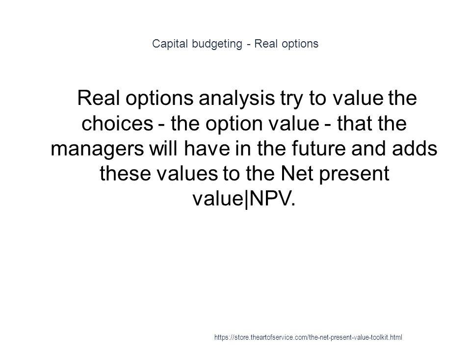 Capital budgeting - Real options