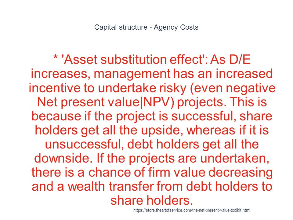 Capital structure - Agency Costs