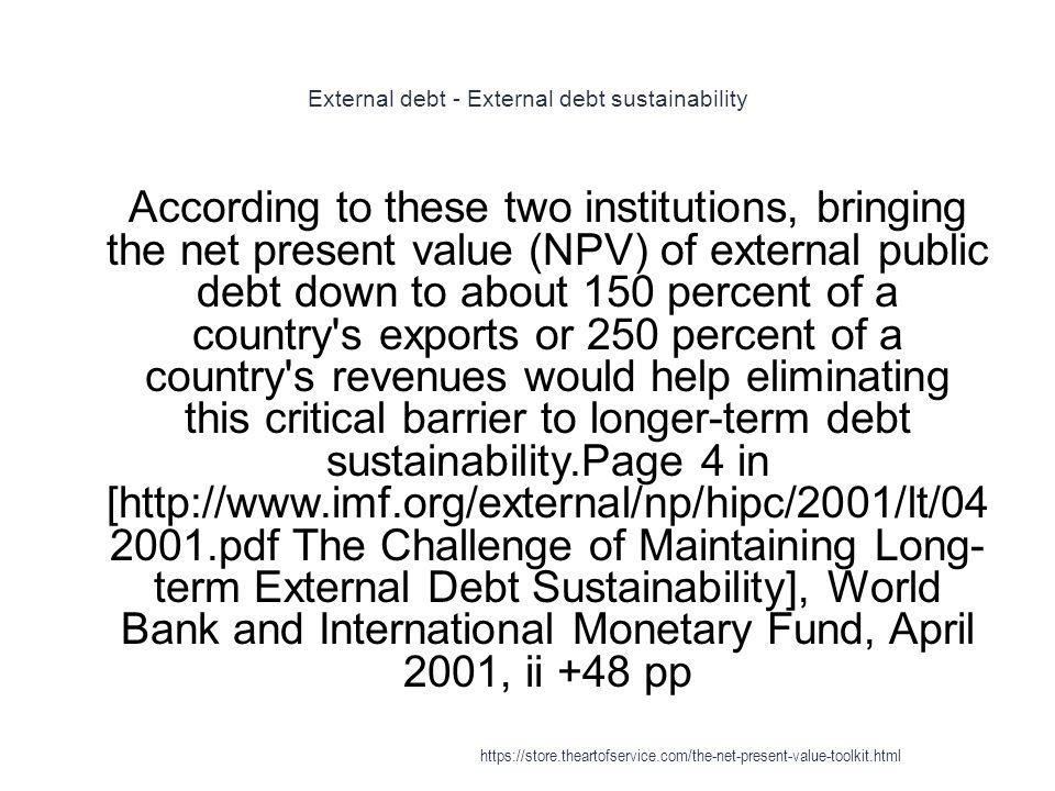 External debt - External debt sustainability