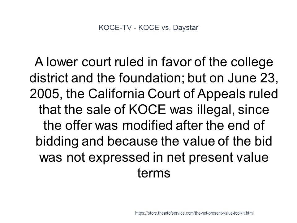 KOCE-TV - KOCE vs. Daystar