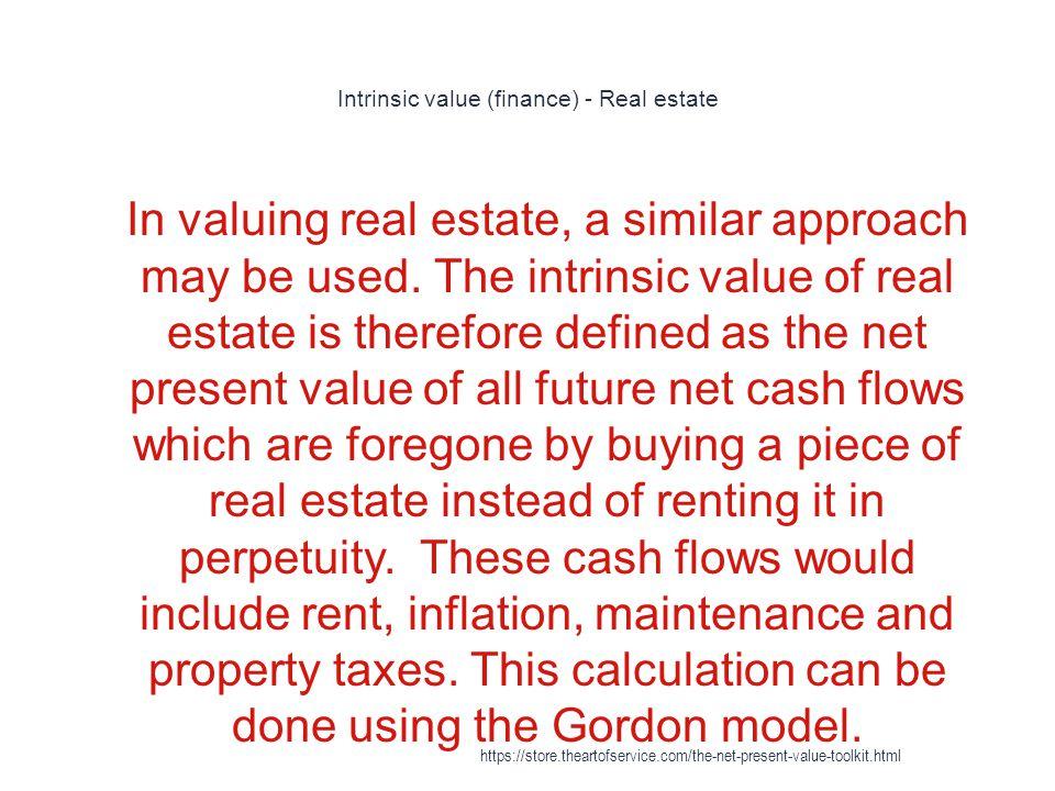 Intrinsic value (finance) - Real estate