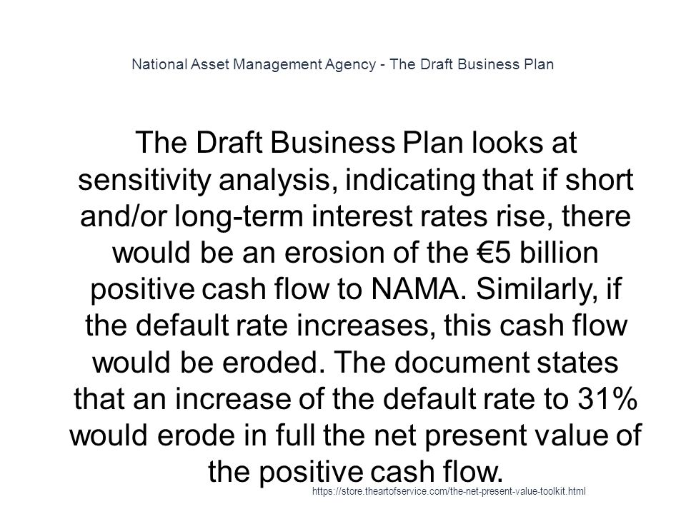National Asset Management Agency - The Draft Business Plan