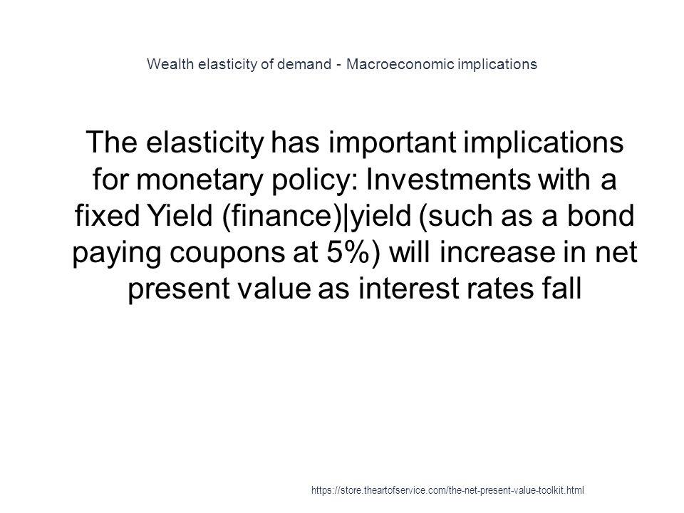 Wealth elasticity of demand - Macroeconomic implications