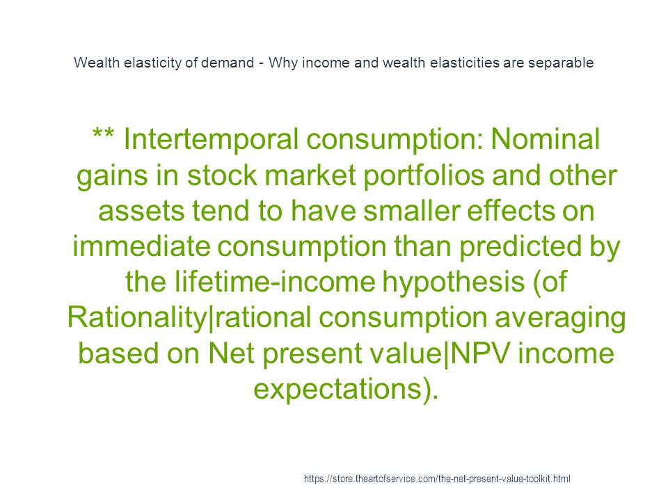 Wealth elasticity of demand - Why income and wealth elasticities are separable