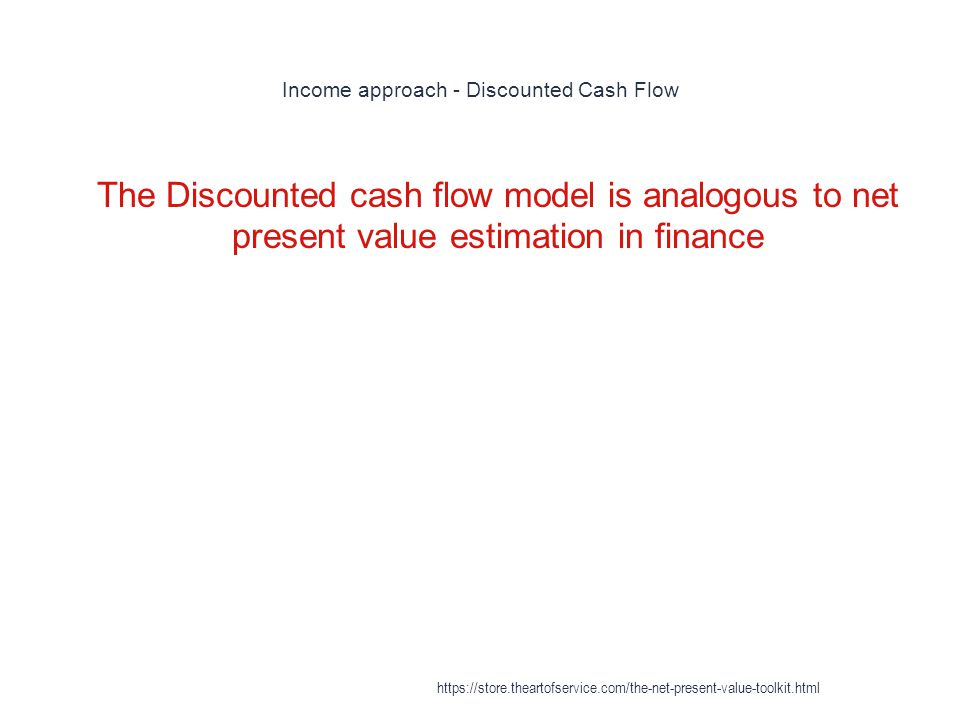 Income approach - Discounted Cash Flow