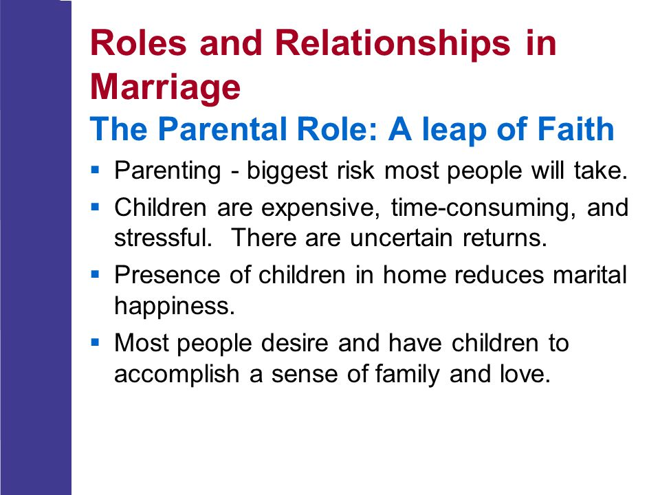 Roles and Relationships in Marriage