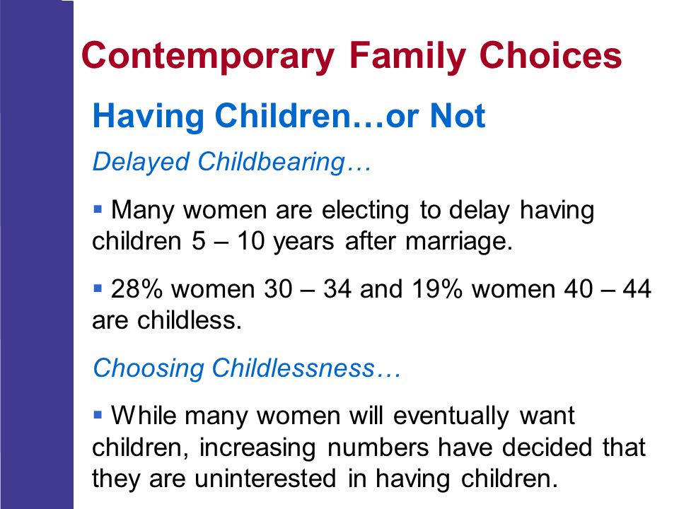 Contemporary Family Choices