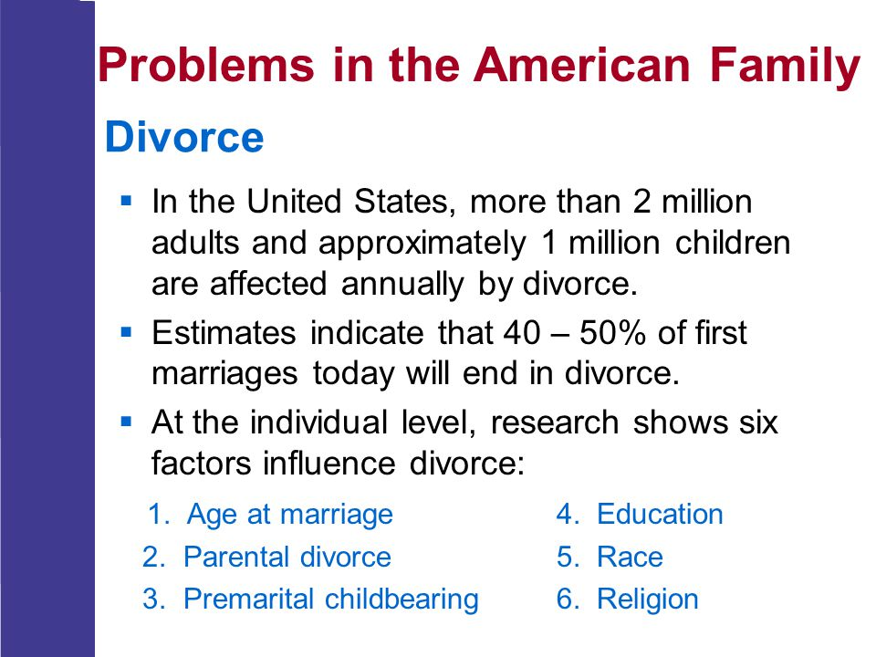 Problems in the American Family