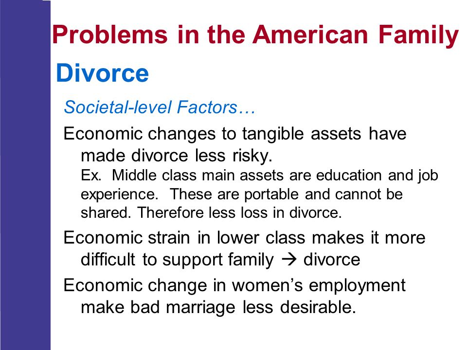 Problems in the American Family Divorce