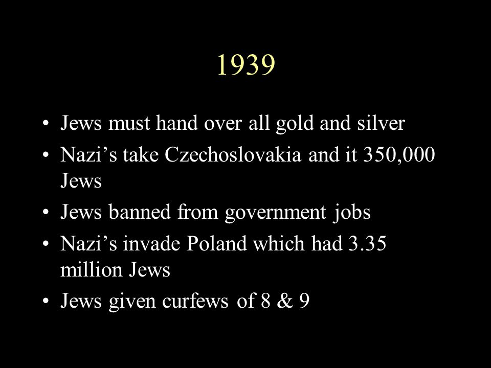 1939 Jews must hand over all gold and silver