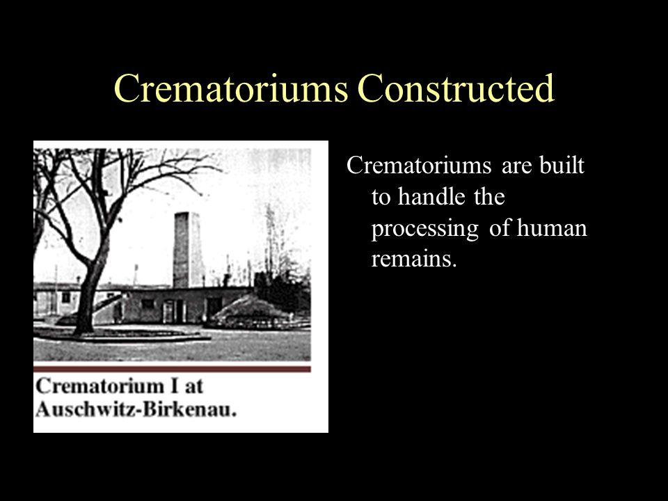 Crematoriums Constructed
