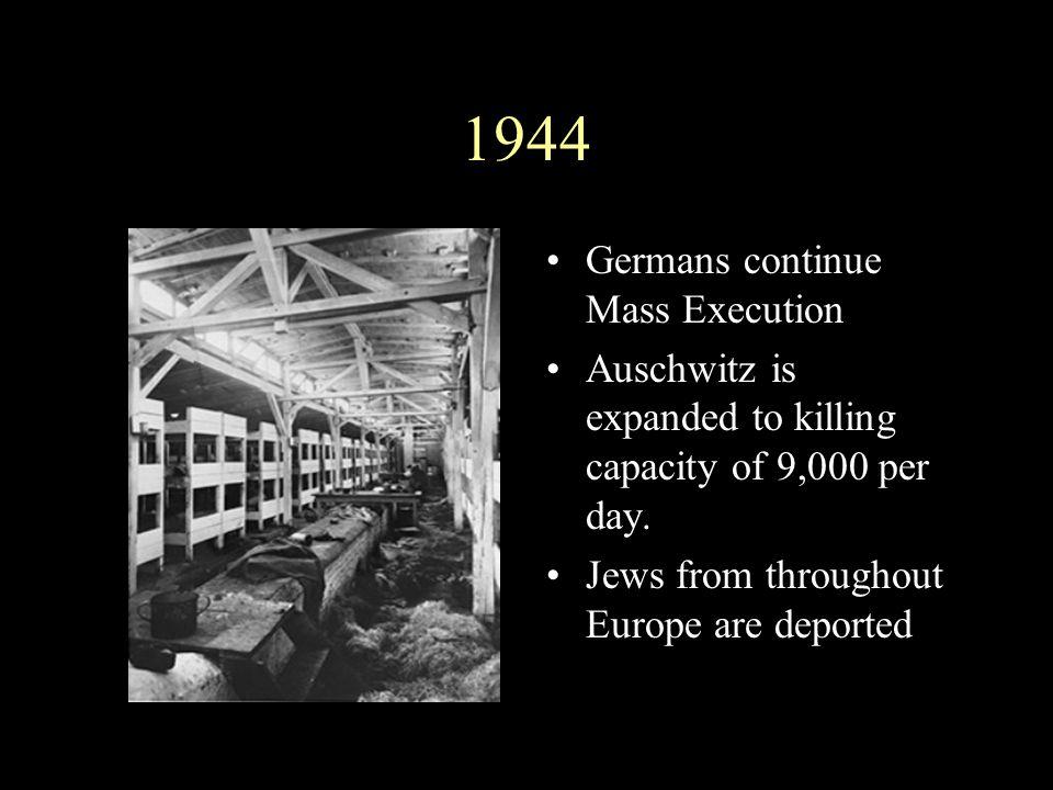 1944 Germans continue Mass Execution