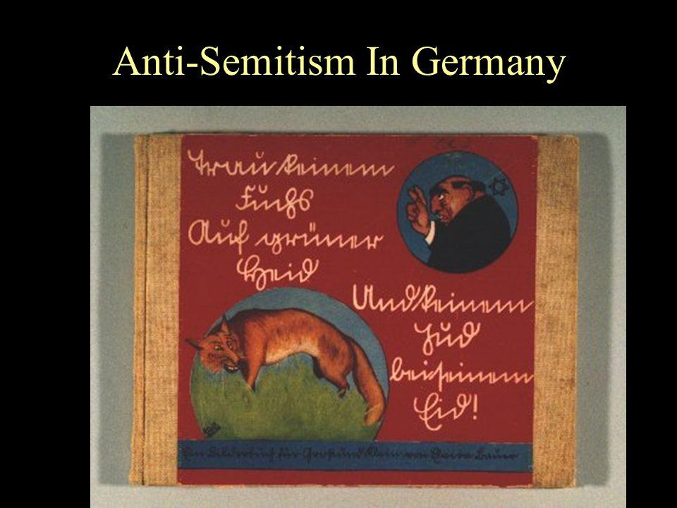 Anti-Semitism In Germany