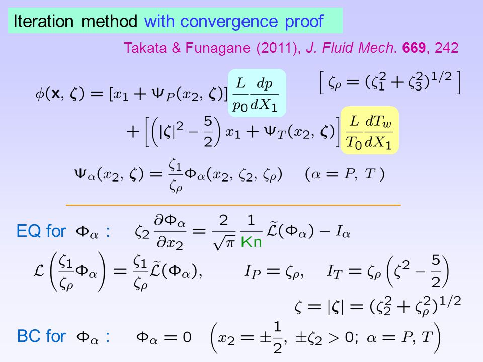 Iteration method with convergence proof