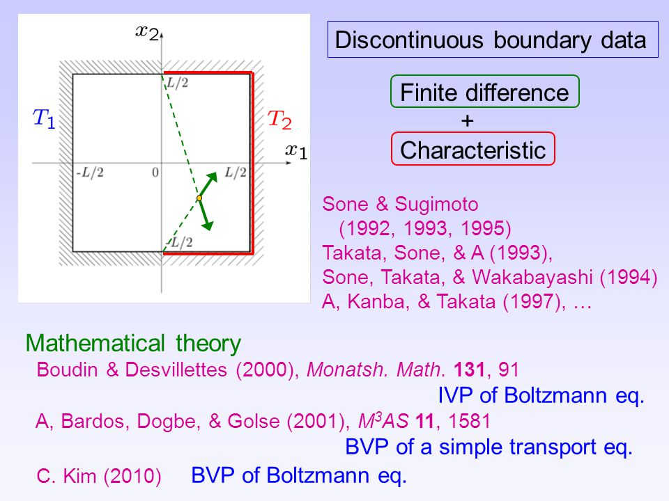 Discontinuous boundary data
