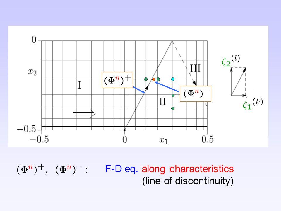 F-D eq. along characteristics