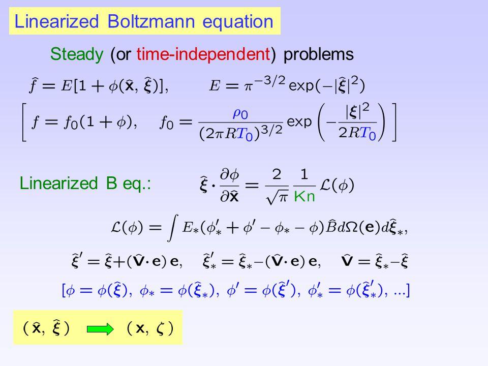 Linearized Boltzmann equation