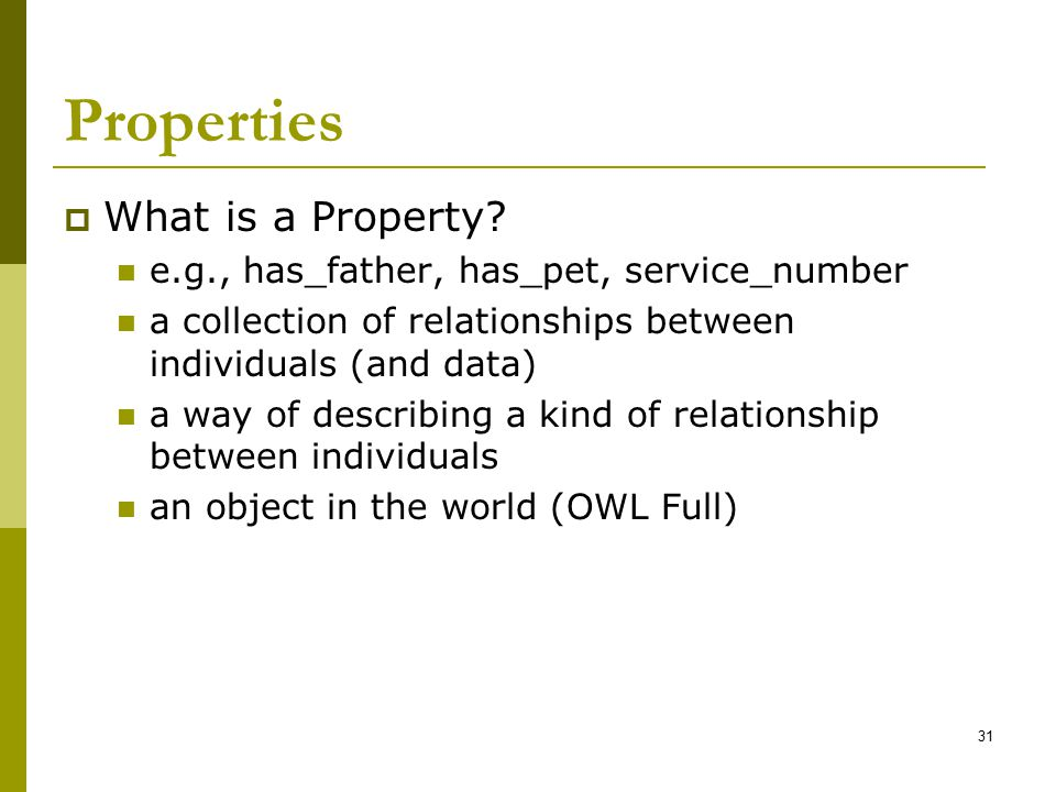 Properties What is a Property