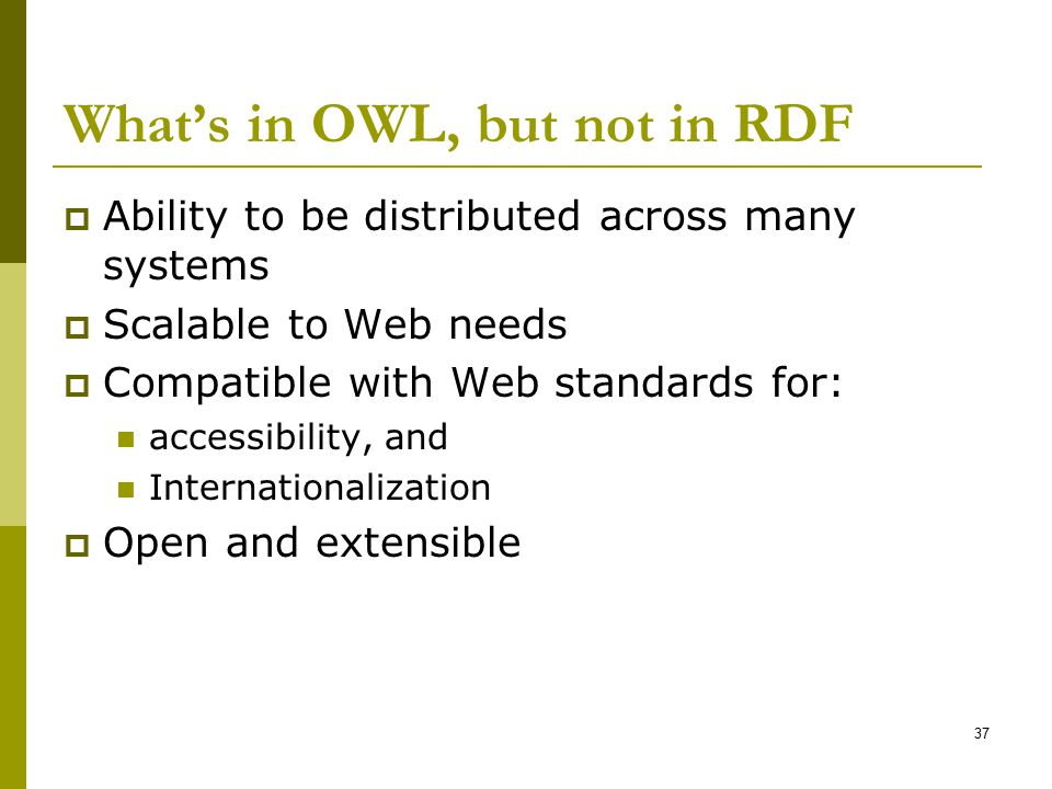 What's in OWL, but not in RDF