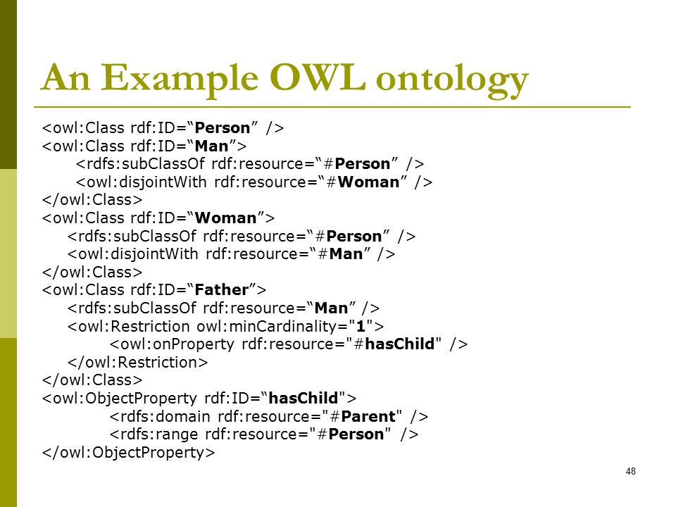 An Example OWL ontology