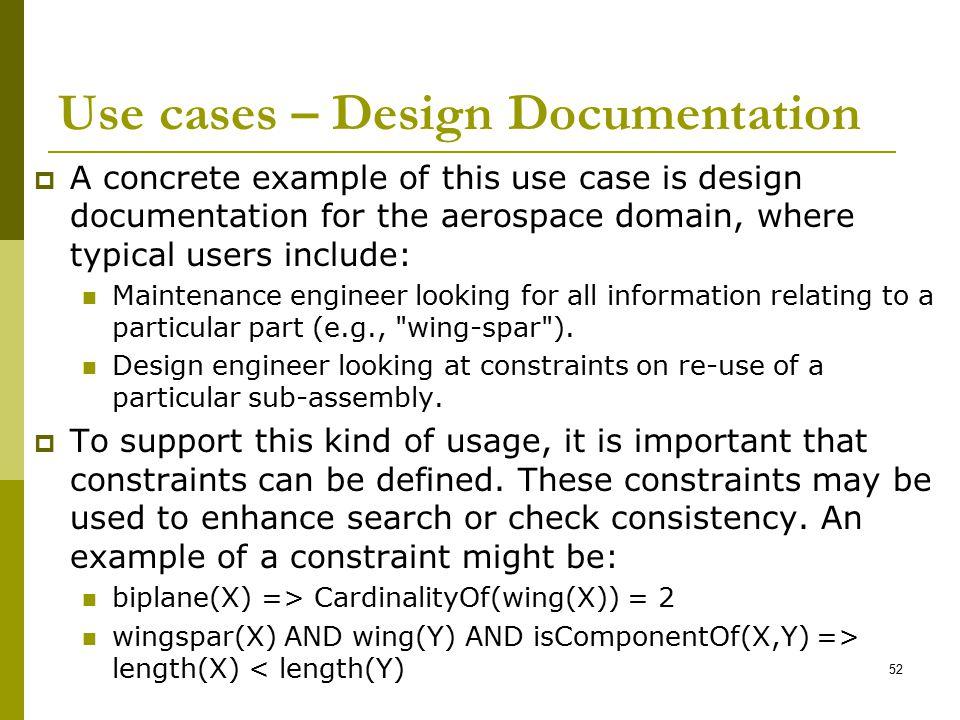 Use cases – Design Documentation