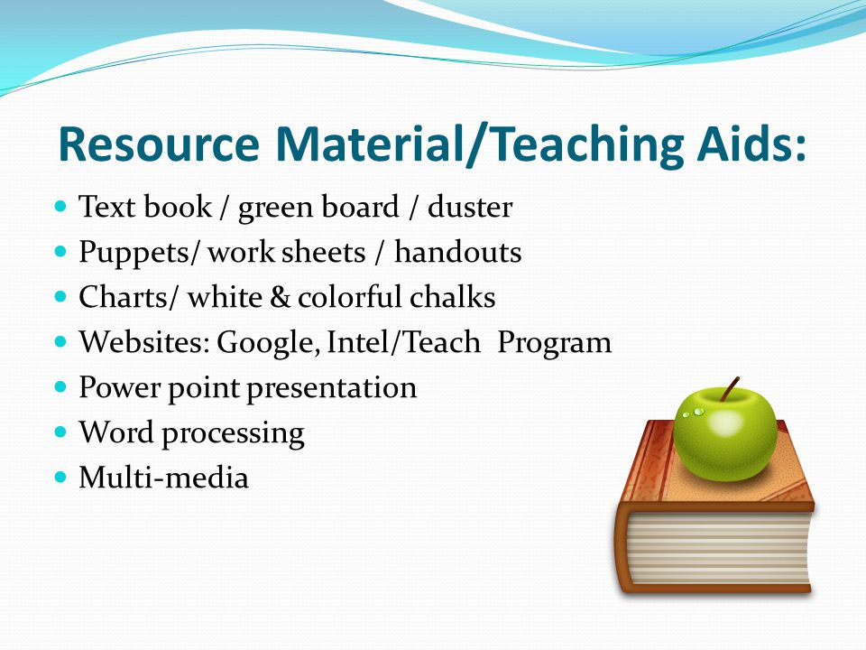 Resource Material/Teaching Aids: