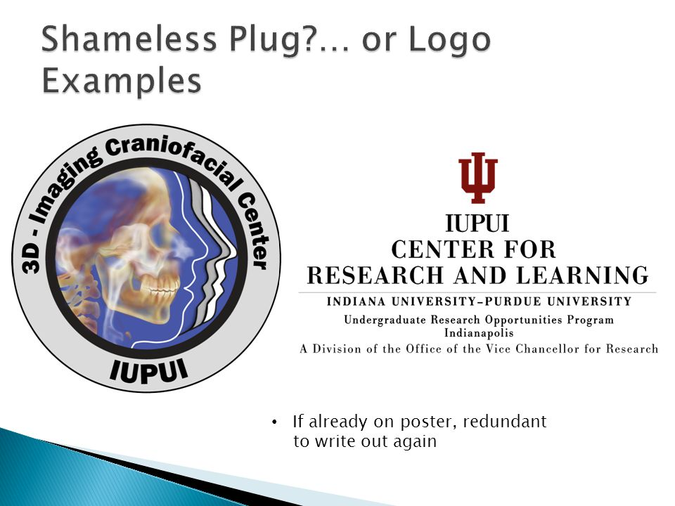 Shameless Plug … or Logo Examples